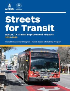 Cover of Streets for Transit report